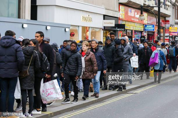 Tens of thousands of shoppers are seen taking advantage of postChristmas bargains on Oxford Street during the Boxing Day sales According to a recent...