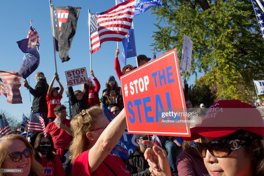 Trump supporters rally in Washington to declare the election results a fraud : News Photo