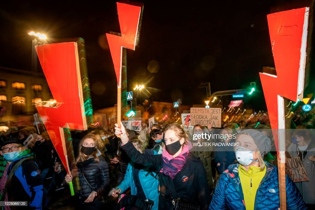 POLAND-ABORTION-POLAND-ABORTION-DEMONSTRATION : News Photo