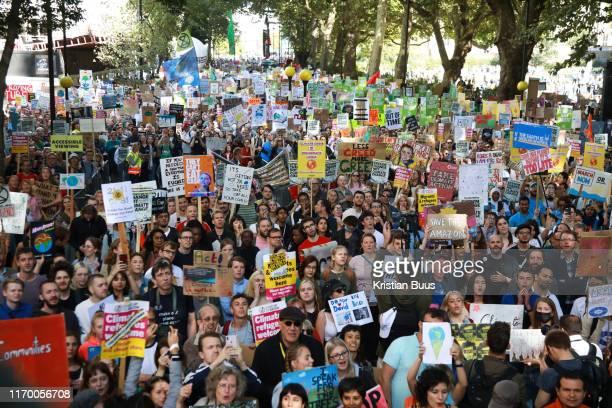 Tens of thousands took to the streets in Central London taking part in the the Global Climate Strike, September 20th 2019, London, United Kingdom....