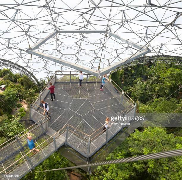 Tensile metal structure with viewing platform Eden Project Bodelva United Kingdom Architect Grimshaw 2016