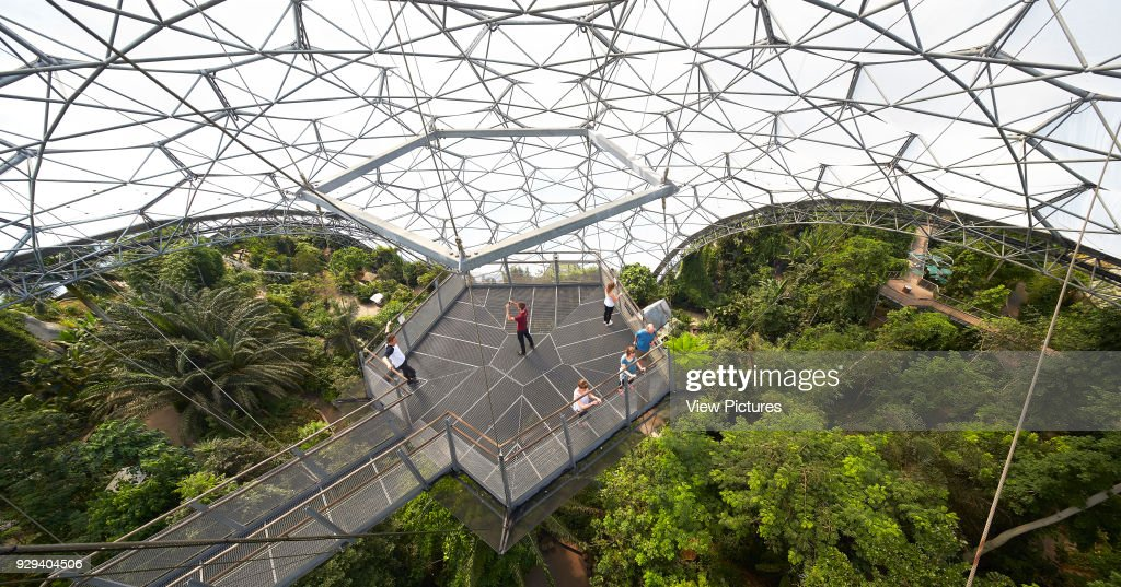 Tensile Metal Structure With Viewing Platform Eden Project Bodelva United Kingdom Architect
