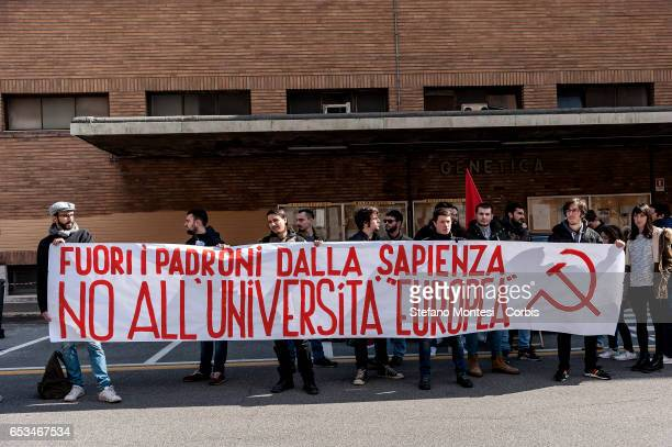 Tension and unrest in Rome's Sapienza University during a conference in which took part the Education Minister, Valeria Fedeli, a group of students,...