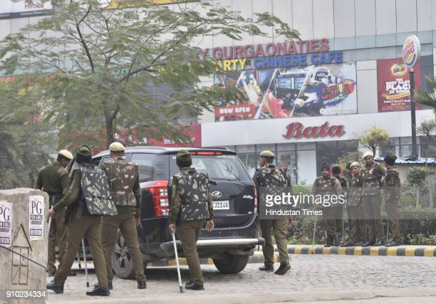 Tension prevailed in Gurgaon but situation remained largely peaceful as heavy police presence ensured that there was no untoward incident in the city...