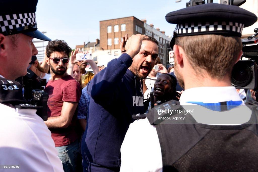 Vehicle mows down Muslim worshippers in London : News Photo