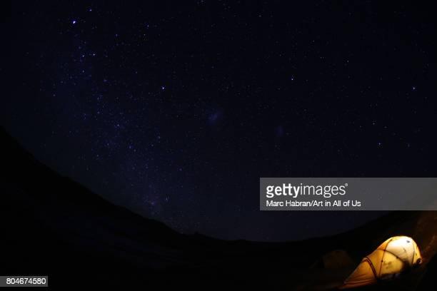 Tent below the stars on November 2017 in San Pedro de Atacama Chile