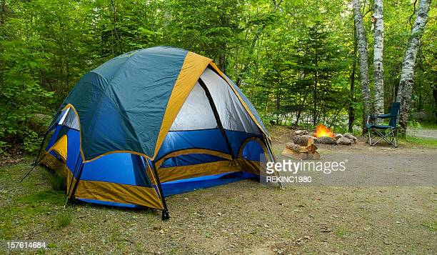 Tent Camping During Summer in the Great Outdoors
