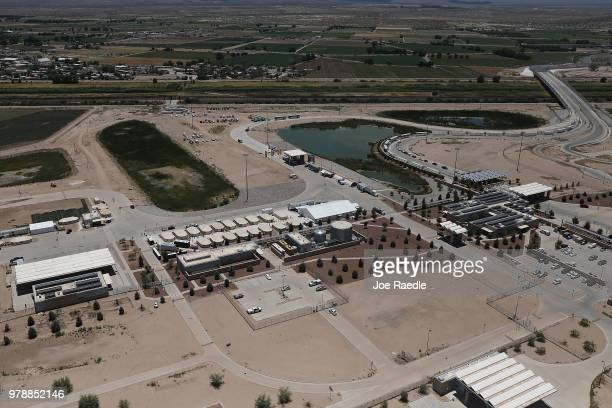 A tent encampment holdiing children of immigrants is seen recently built near the Tornillo Port of Entry on June 19 2018 in Tornillo Texas Looking...