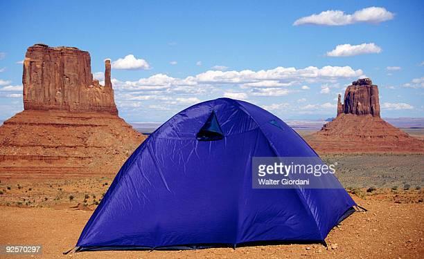 Tent in Monument Valley , Arizona