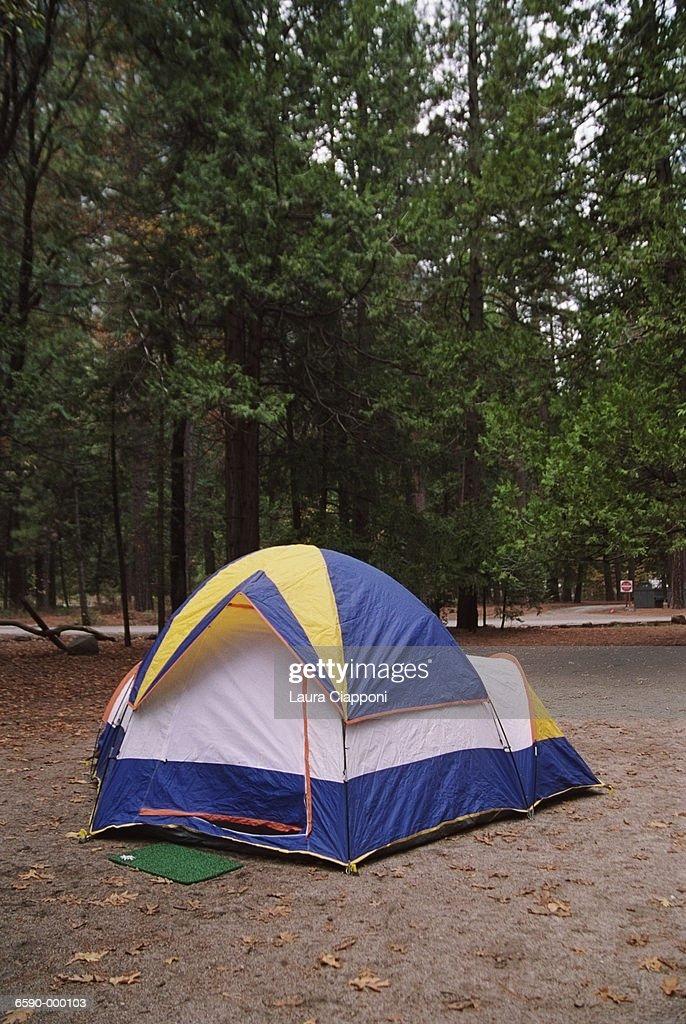 Tent in Yosemite National Park  Stock Photo & Tent In Yosemite National Park Stock Photo | Getty Images