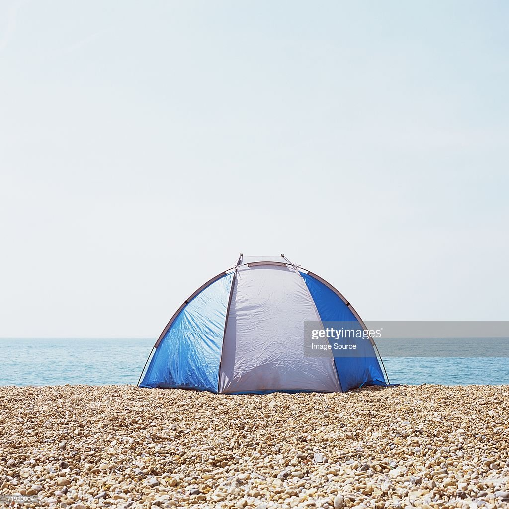 Tent on a beach  Stock Photo  sc 1 st  Getty Images & Tent On A Beach Stock Photo | Getty Images