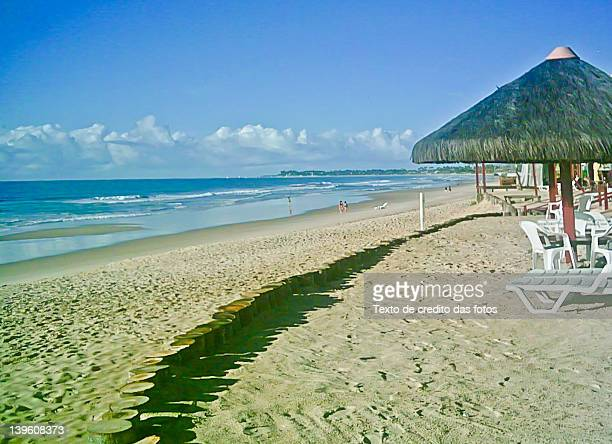 tent on beach of port chicken - texto stock photos and pictures