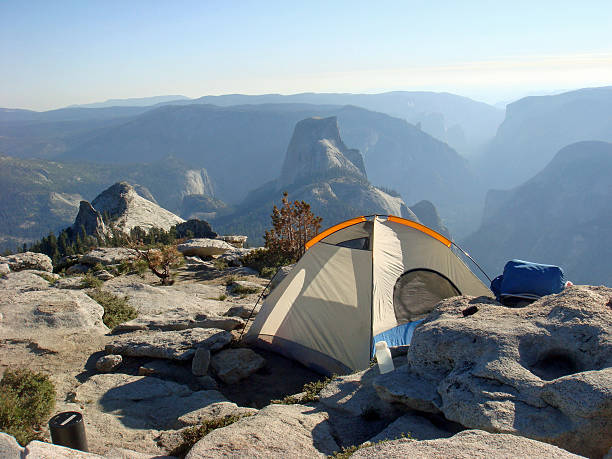 tent on clouds rest, yosemite