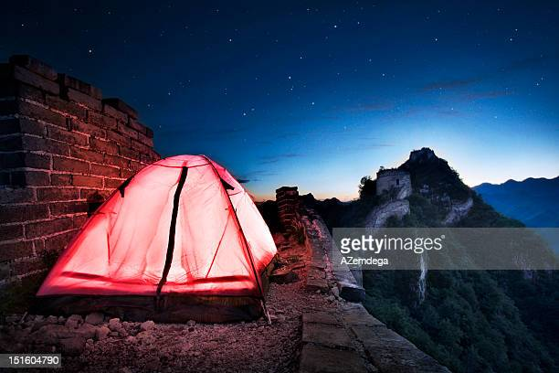 Tent on Great Wall of China