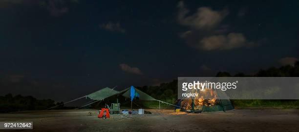 Zelt auf dem River Bank.