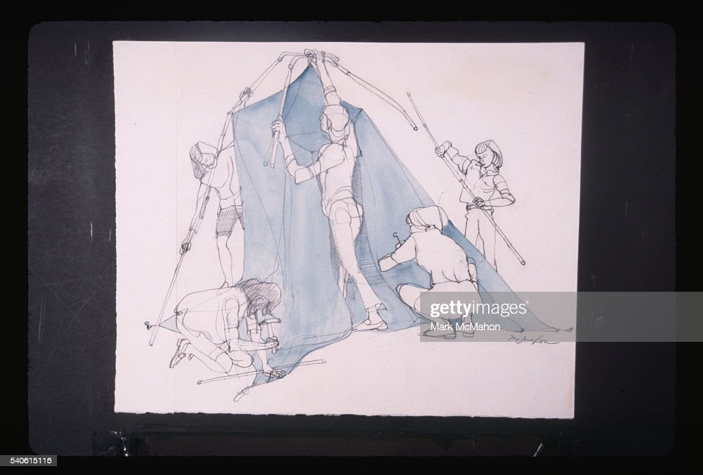 Tent Setup by Franklin McMahon & Tent Setup by Franklin McMahon Pictures | Getty Images