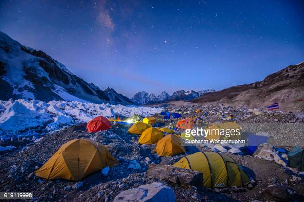 Tent village on Everest base camp, Nepal