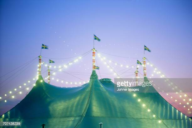 tent with flags - circus stock pictures, royalty-free photos & images