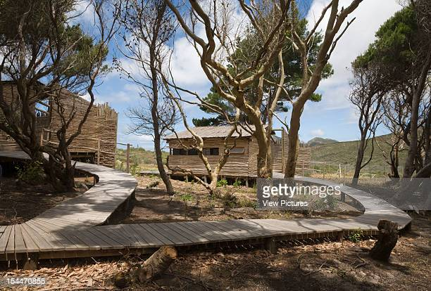 Tented Camp, Smitswinkel Bay, Makeka Design Lab, Table Mountain National Park, South Africa Rustic Huts With Timber Walkway, Makeka Design Lab, South...