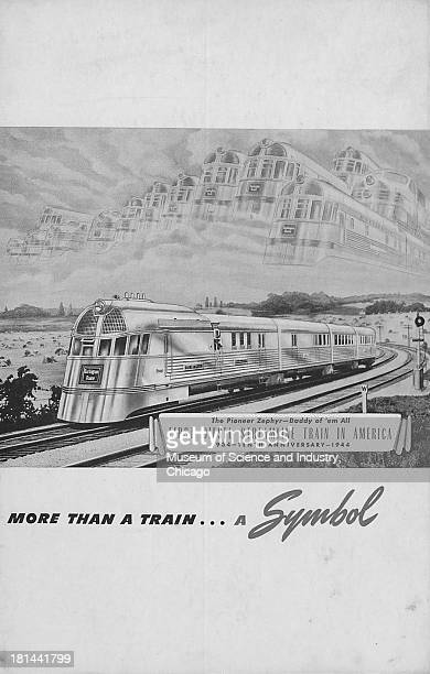 A Tenth Anniversary card for the Burlington Pioneer Zephyr Chicago Illinois mid 1940s The anniversary took place on April 10 and the the Pioneer...