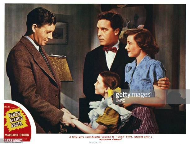 Tenth Avenue Angel US lobbycard from left George Murphy Warner Anderson Margaret O'Brien Phyllis Thaxter 1948
