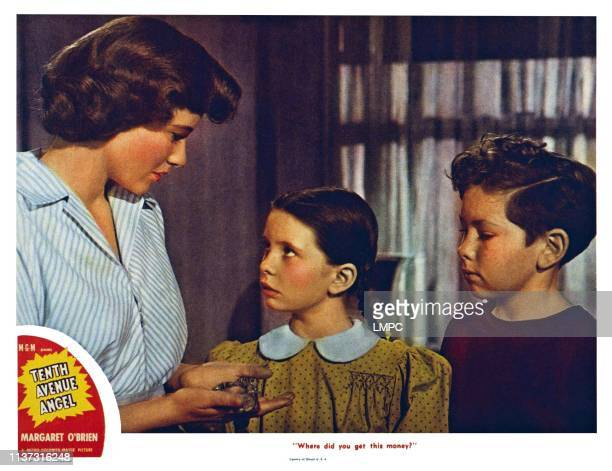 Tenth Avenue Angel US lobbycard from left Phyllis Thaxter Margaret O'Brien 1948