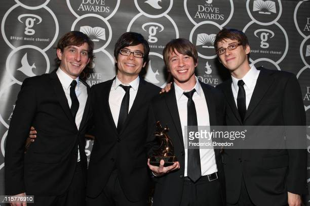 Tenth Avenue North poses in the press room at the 40th Annual GMA Dove Awards held at the Grand Ole Opry House on April 23, 2009 in Nashville,...