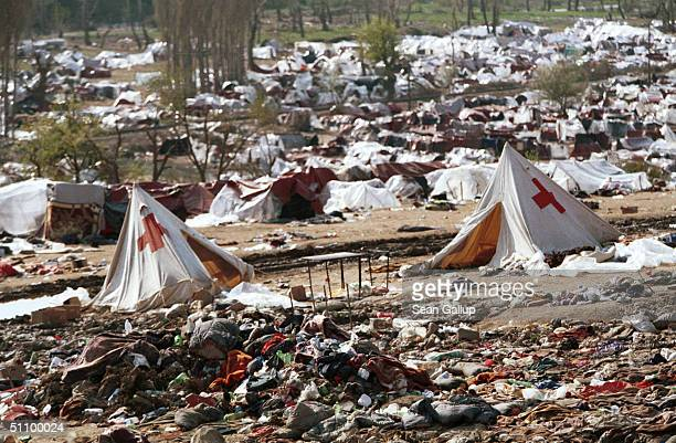 Tents And Discarded Possessions Are All That Remain April 7 At An Open Field In Blace, Macedonia, Of The Estimated 30,000 To 40,000 Kosovo Albanian...