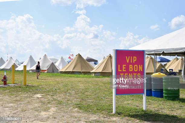 Tents are seen during the 2019 Bonnaroo Arts And Music Festival on June 16, 2019 in Manchester, Tennessee.