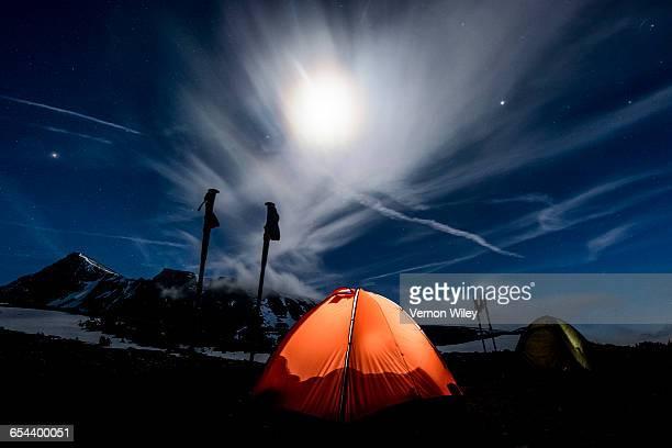 Tents at night