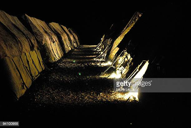 Tents at night time of the 186th Regiment Folgore Parachute Brigade in the Italian military base on September 16 2009 in Shindand Afghanistan More...
