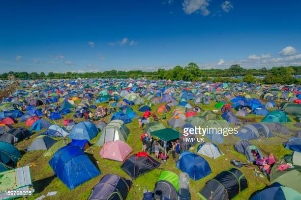 Tents at UK Music Festival