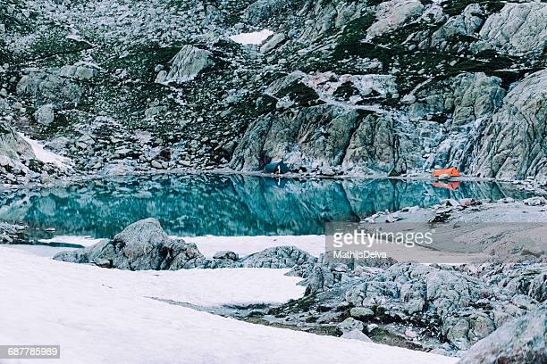 Tents by lac blanc, Chamonix-mont-blanc, France