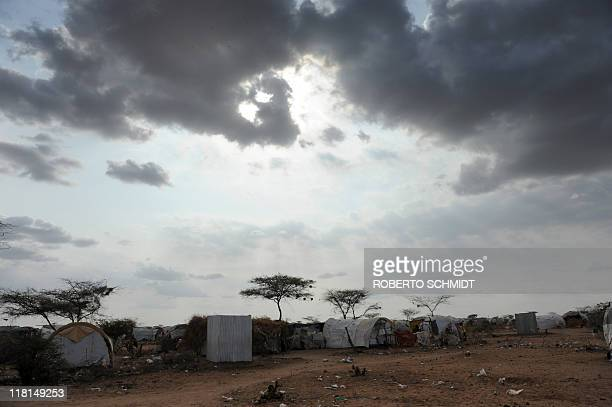 Tents line up the semi-arid plains outside the official boundaries of Dadaab which is considered to be the worlds biggest refugee camp in the world...