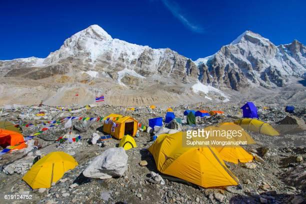 Tents village at Everest base Camp in Sagamatha National Park Nepal 2016
