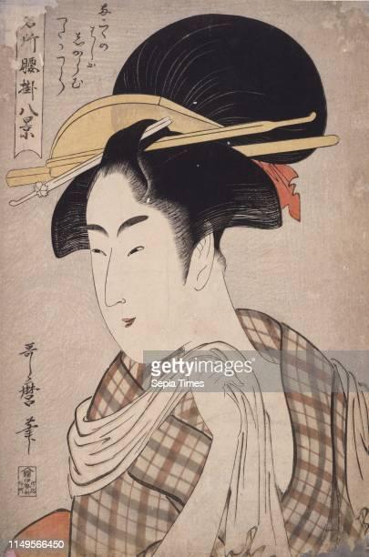 Tenugui] = [Hand-towel], Kitagawa, Utamaro , , Date Created: ca. 1793-ca.1804