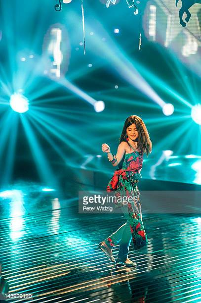 Tenyearold Erisa performs during DSDS Kids 1st Show at Coloneum on May 05 2012 in Cologne Germany