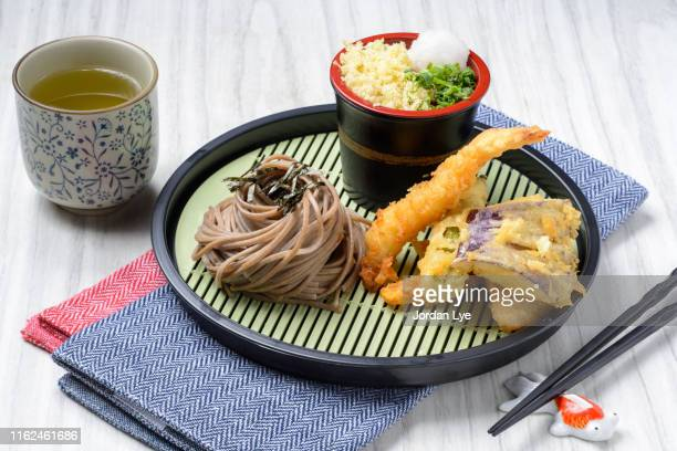 tenzaru soba - soba stock pictures, royalty-free photos & images