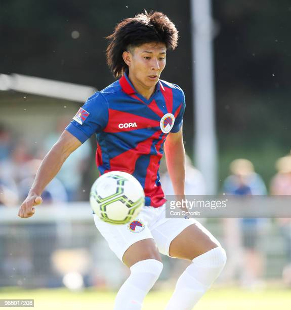 Tenzin Choepak of Tibet watches the ball during the CONIFA World Football Cup 2018 match between Northern Cyprus and Tibet at Enfield Town on June 2...