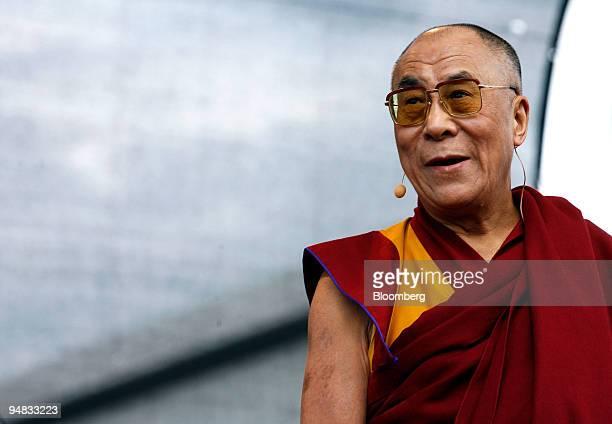 Tenzin Gyatso the 14th Dalai Lama speaks in Berlin Germany on Monday May 19 2008 German Development Minister Heidemarie WieczorekZeul defended her...