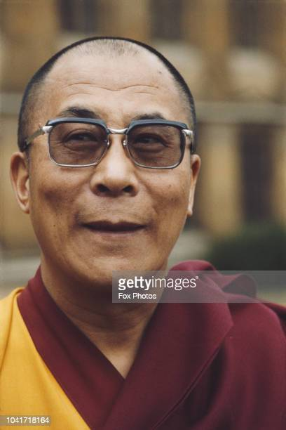 Tenzin Gyatso the 14th Dalai Lama visits Lambeth Palace official residence of the Archbishop of Canterbury in London 1984