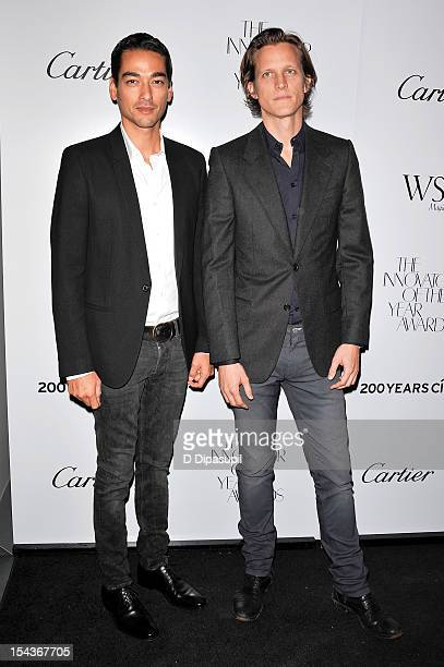 Tenzin Wild and Magnus Berger attend the 2012 WSJ Magazine Innovator Of The Year Awards at the Museum of Modern Art on October 18 2012 in New York...