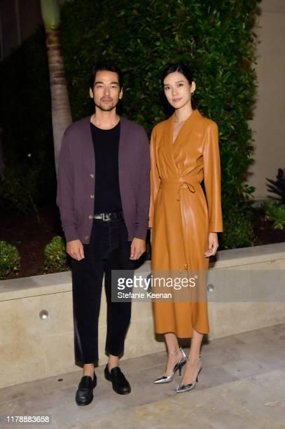 Tenzin Wild and Tao Okomato attend Barneys New York Jason Bolden and Sandra Sandor Celebrate Nanushka on October 03 2019 in Beverly Hills California