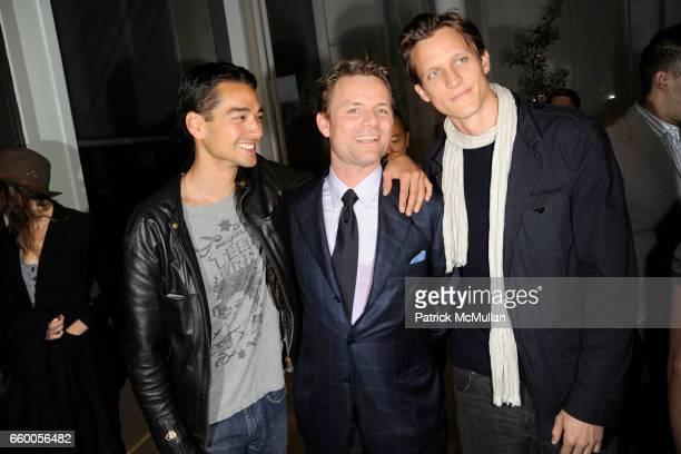 Tenzin Wild JanHendrik Schlottman and Magnus Berger attend DEREK LAM Boutique Opening at Derek Lam on May 6 2009 in New York City