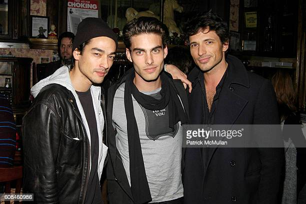 Tenzin Wild Jon Kortajarena and Andres Segura attend CALVIN KLEIN/VMAN Party with special performance by BLOODY SOCIAL featuring JAMIE BURKE the new...
