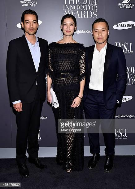 Tenzin Wild Tao Okamoto and Phillip Lim attend WSJ Magazine 2014 Innovator Awards at Museum of Modern Art on November 5 2014 in New York City