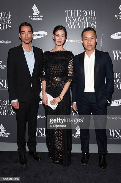 Tenzin Wild Tao Okamoto and Phillip Lim attend WSJ Magazine's 'Innovator Of The Year' Awards at the Museum of Modern Art on November 5 2014 in New...