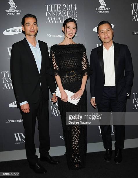 Tenzin Wild Tao Okamoto and Phillip Lim attend WSJ Magazine's 'Innovator Of The Year' Awards at Museum of Modern Art on November 5 2014 in New York...