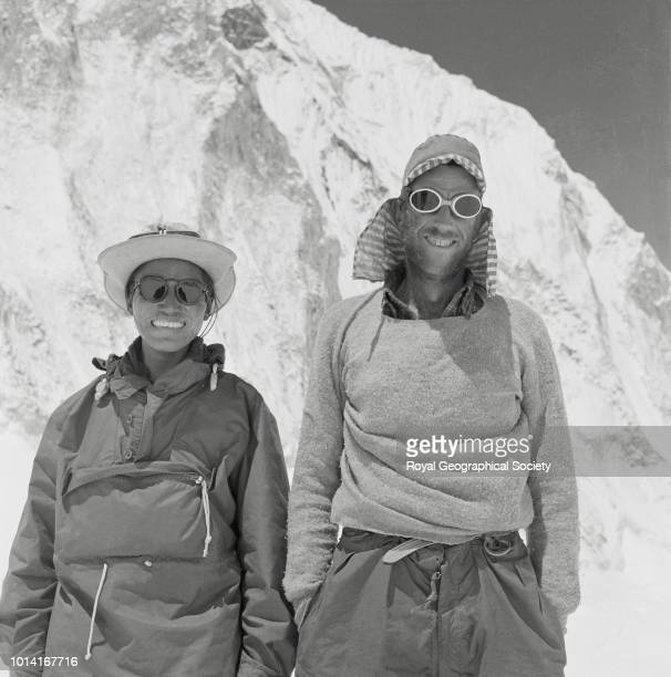 Tenzing and Hillary smiling Nepal March 1953 Mount Everest Expedition 1953