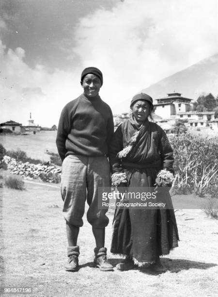 Tenzing Norgay with his mother at Thyangboche Monastery Tenzing Norgay with his mother Kinzom at Thyangboche Monastery Kinzom gave her blessing to...